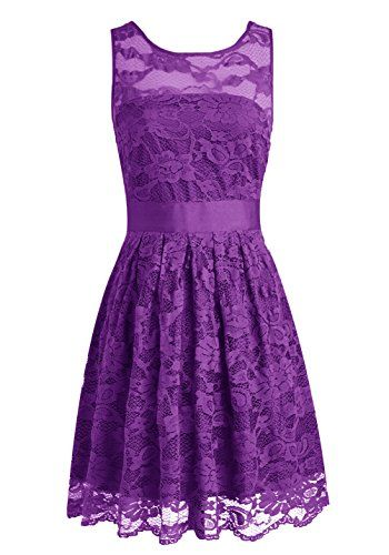ca9616877dce Wedtrend Floral Lace Dress Bridesmaid Dress Short Homecoming Dress Size 2  Purple Wedtrend http:/