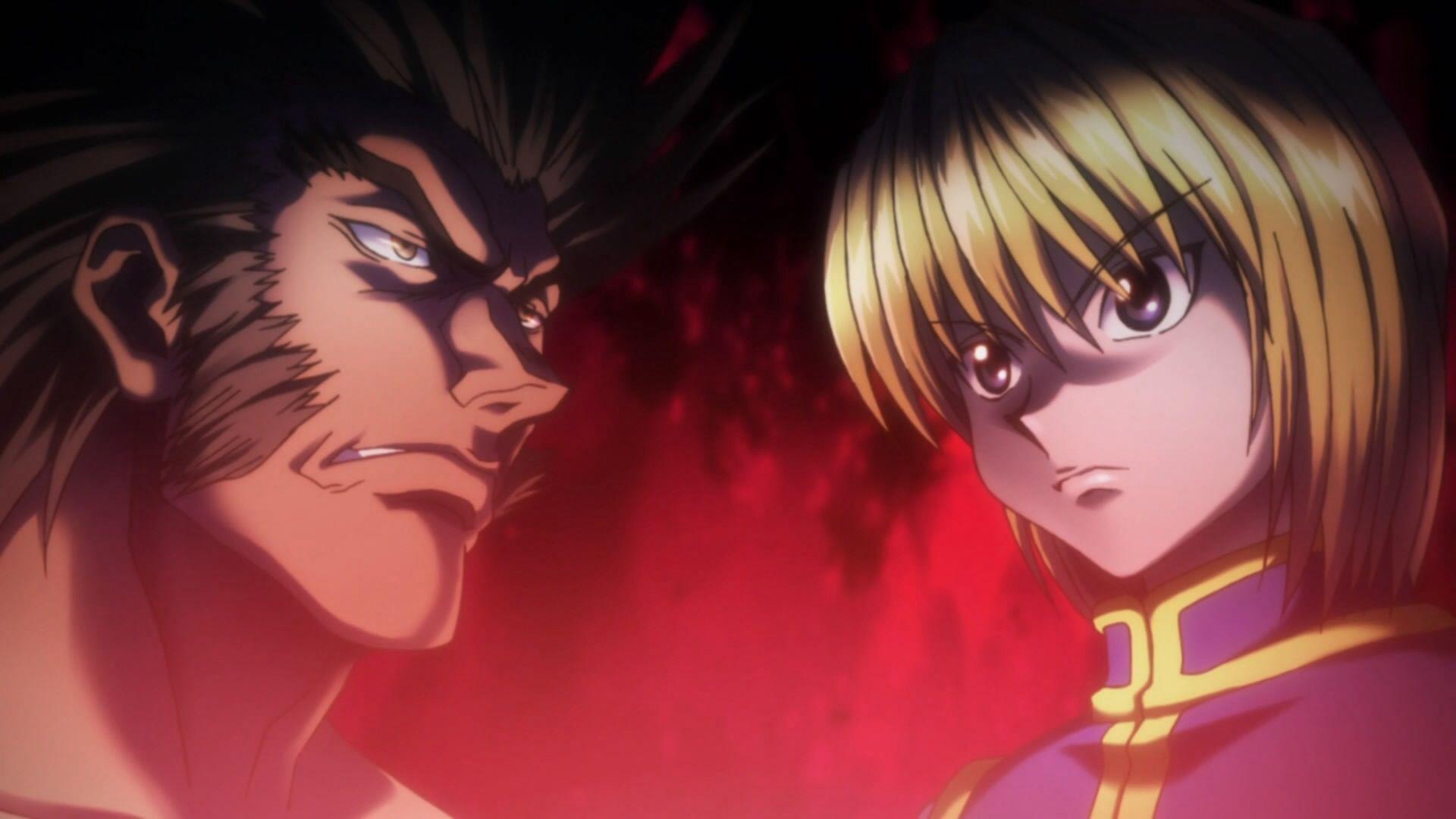 Uvogin vs. Kurapika ~Hunter X Hunter   Hunter anime, Anime, Hunter ...