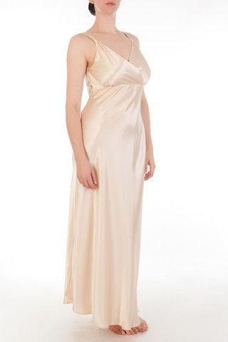 8b0dd542ecc Eleanor Almond Draped Back Gown