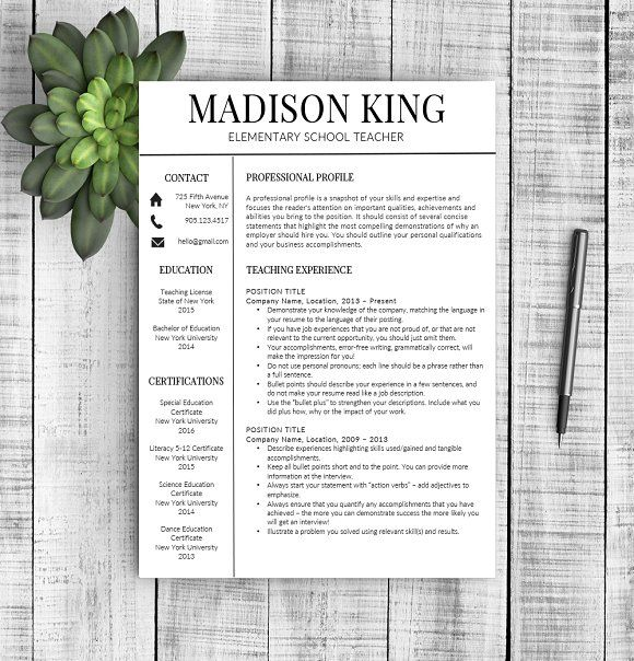 "Resume Template ""Madison"" by Resume Template Shoppe on @mywpthemes_xyz"
