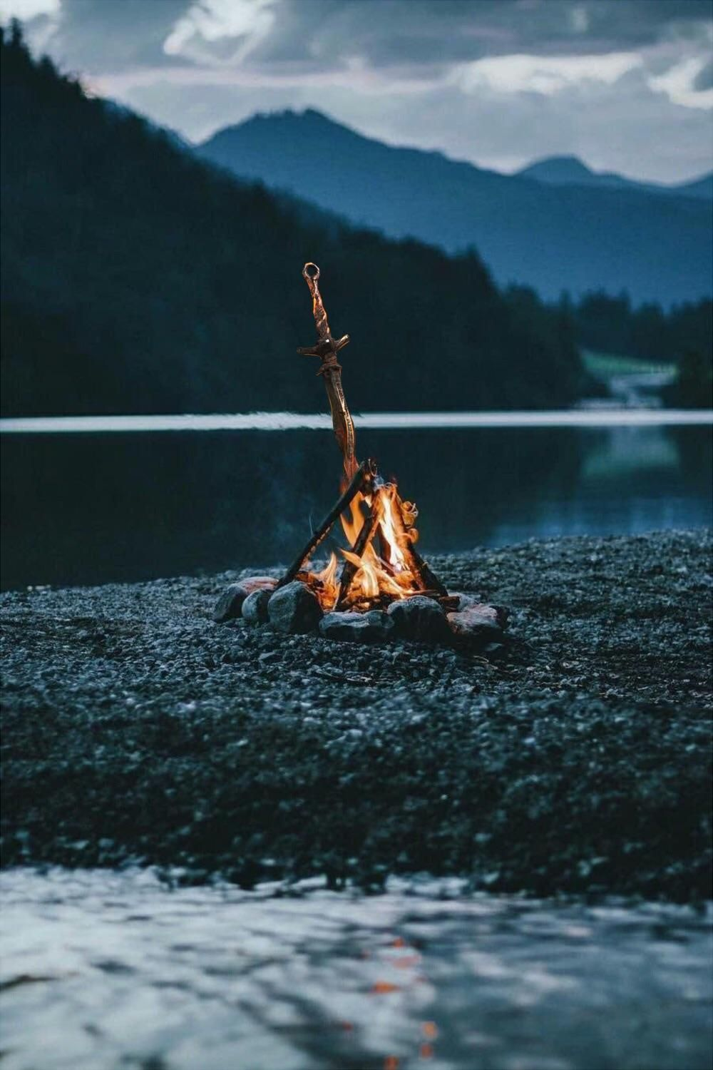My Girlfriend Made This Campfire Picture Into A Dark Souls