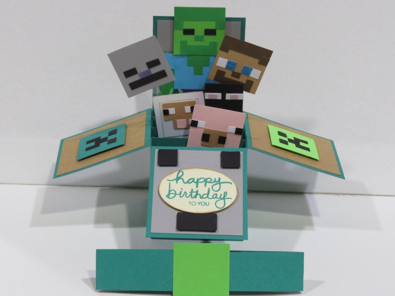 Etsy Product Happy Birthday Birthdays And Minecraft Party Ideas