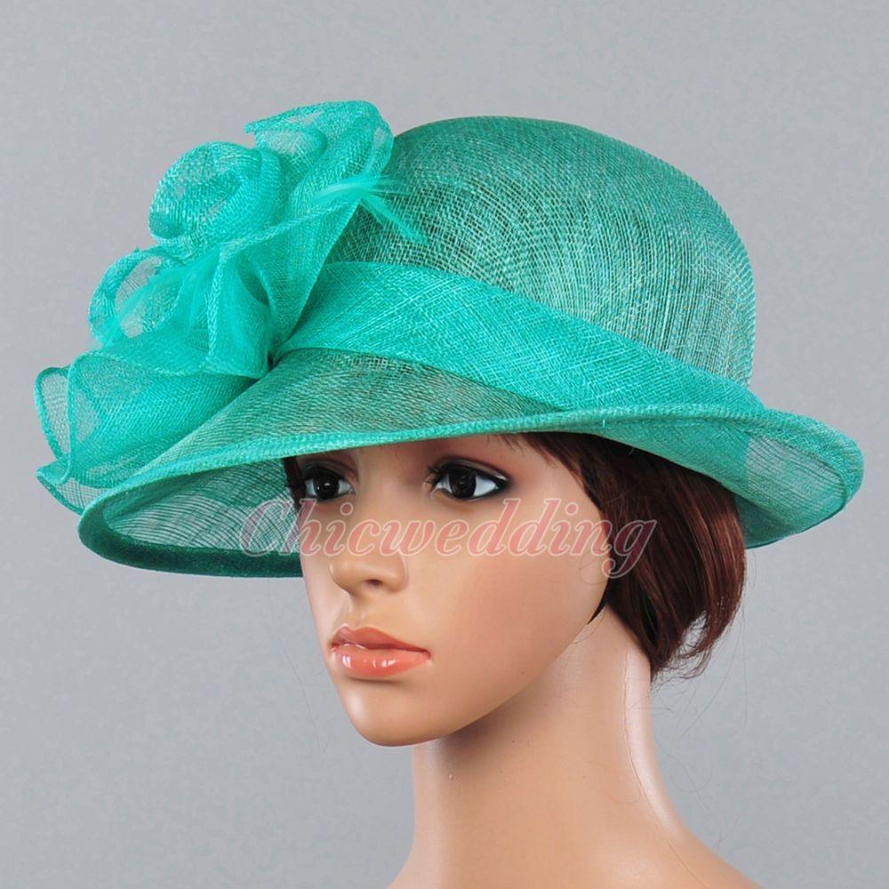 Fancy Women Sinamay Bridal Church Hat Kentucky Derby Tea Party Dress ...