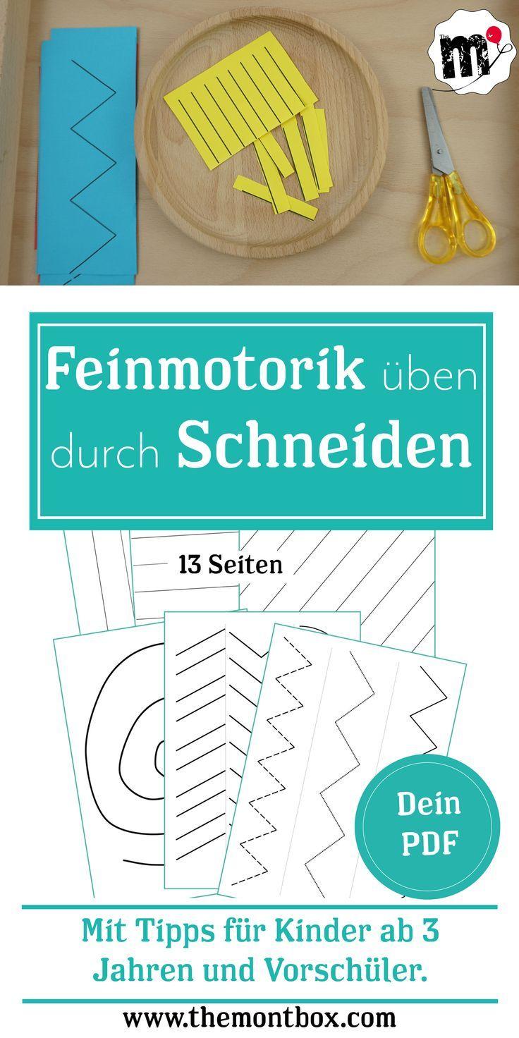Feinmotorikübung Schneiden Kostenloses PDF zum Download