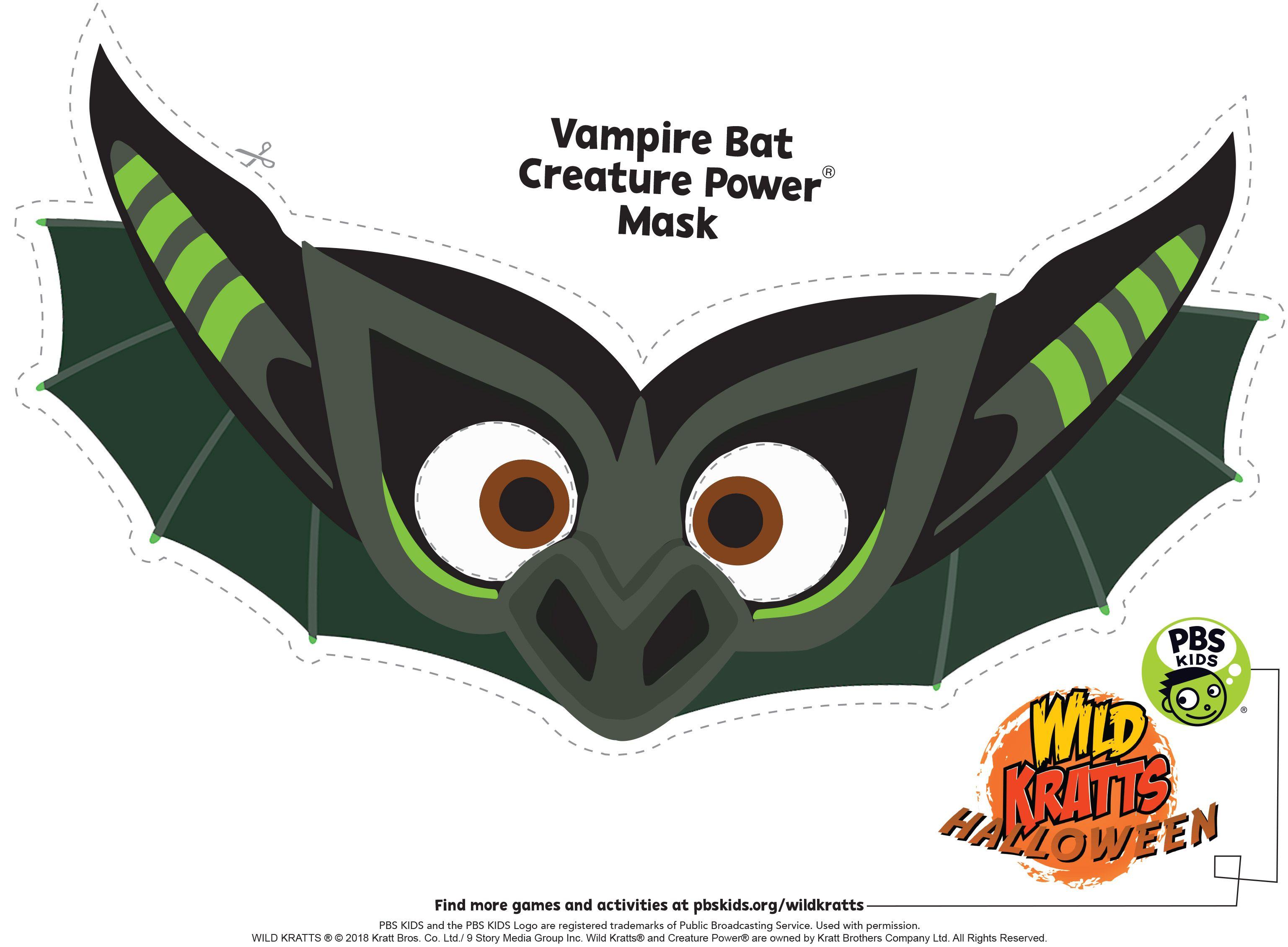 Wild Kratts Halloween Bat Mask Wild Kratts Bat Mask Halloween Bats