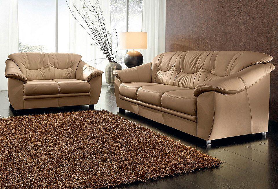Wohnzimmer Garnituren ~ Sit&more polstergarnitur naturleder 2 tlg. jetzt bestellen