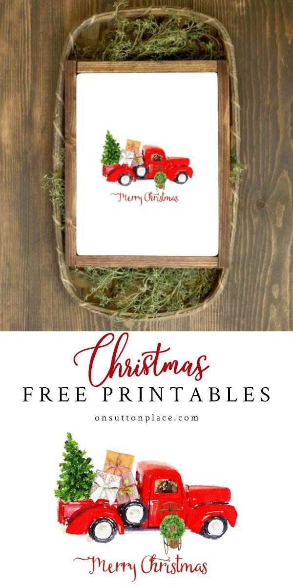 Free Christmas Printables: Holiday Wall Decor Ideas