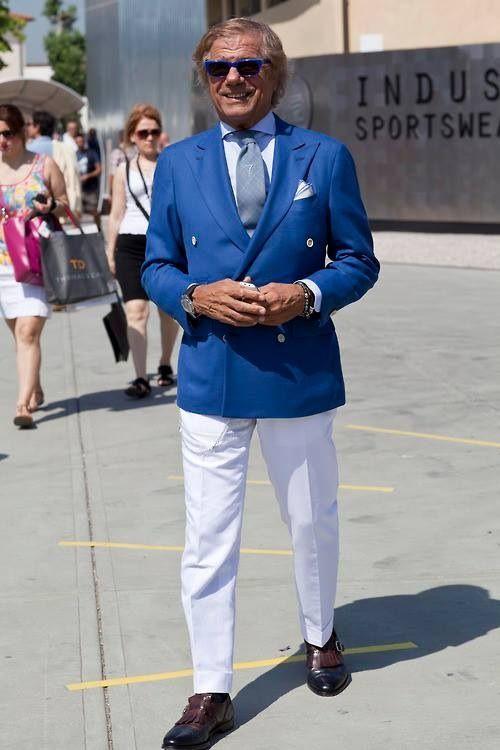 sito affidabile design di qualità spedizioni mondiali gratuite Lino Ieluzzi in Pitti Uomo   Double Breasted Jacket