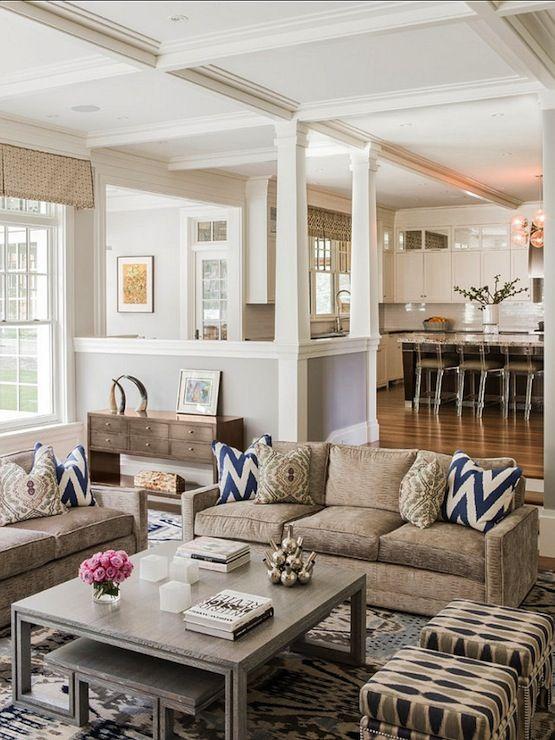 Neutral Family Rooms Pinterest Family Room White Kitchen