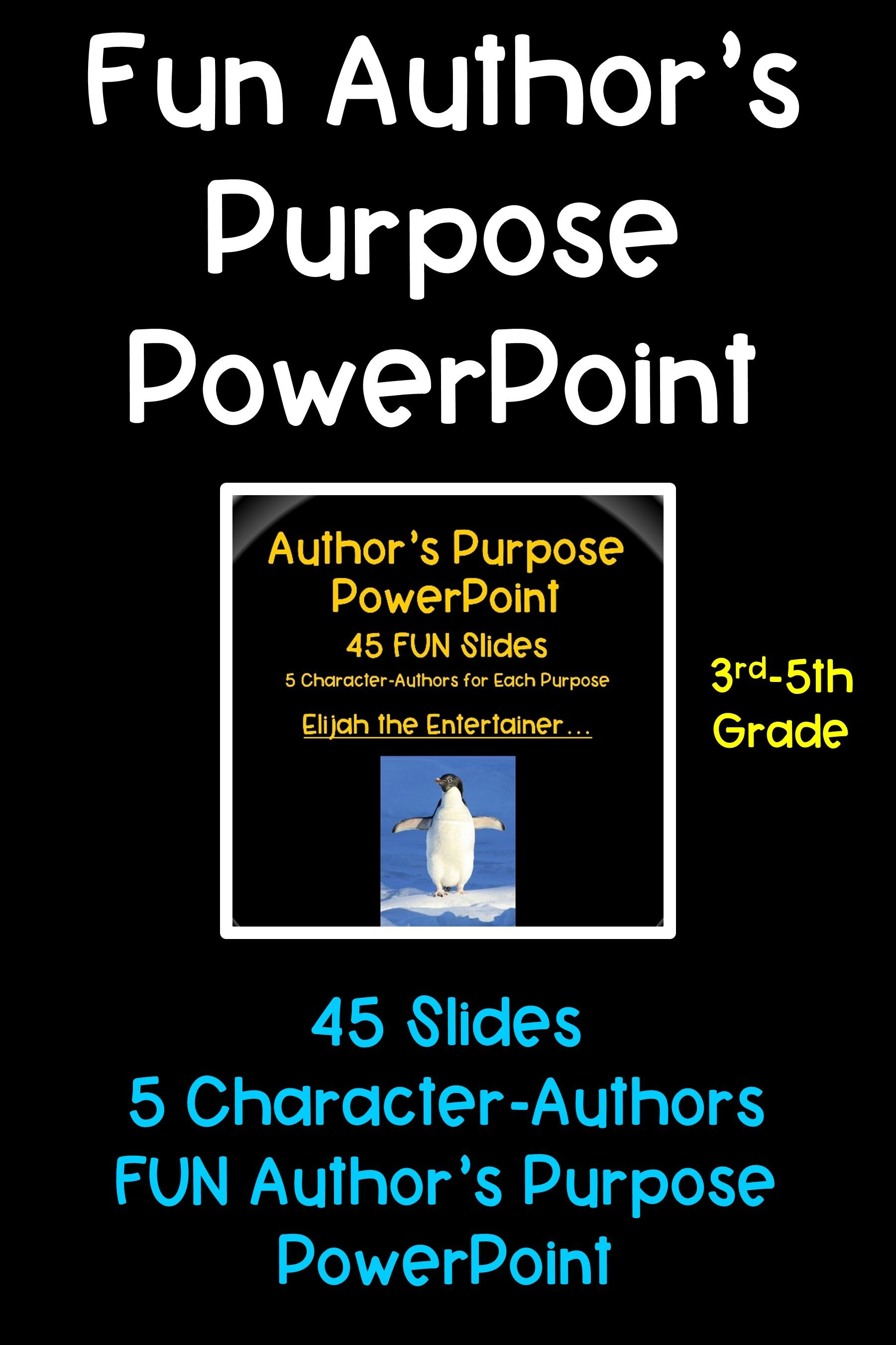 Author S Purpose Powerpoint