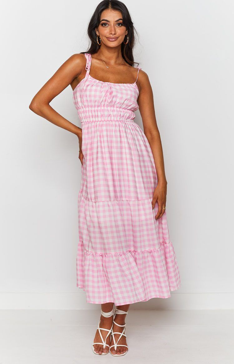 34++ Pink gingham dress info