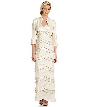 Jessica Howard Artichoke Tiered Jacket Dress #Dillards