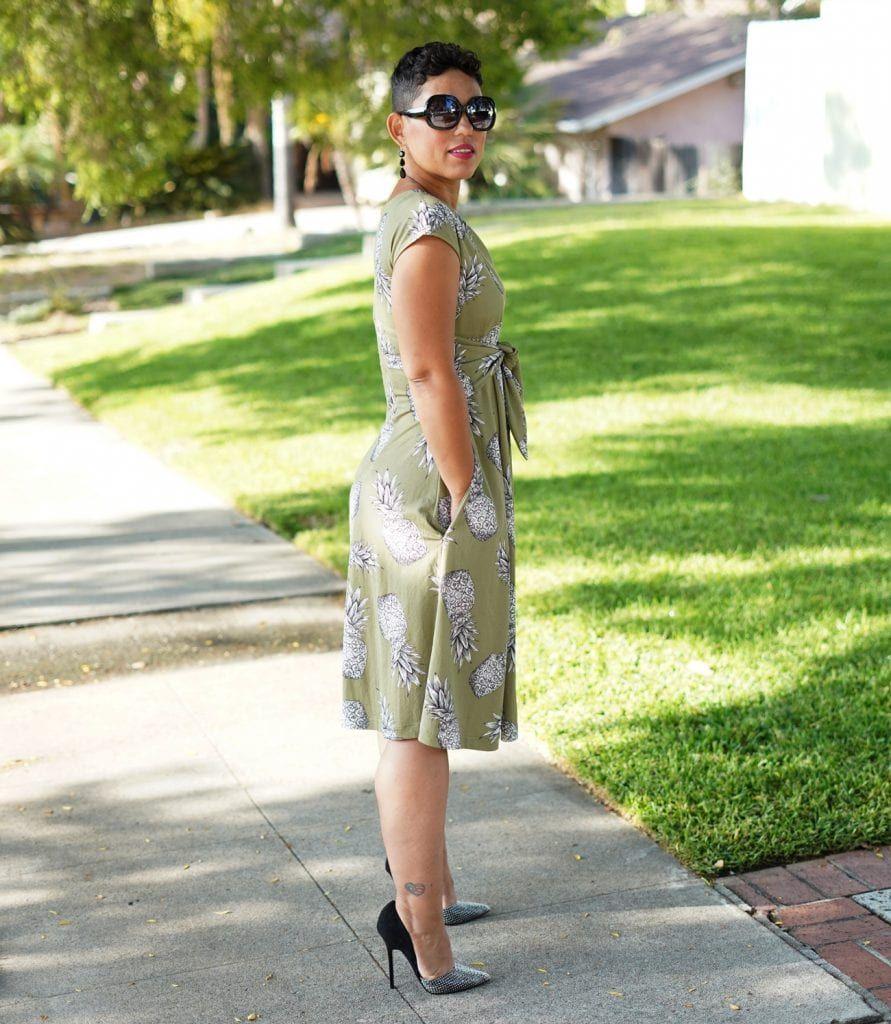 Diy Pineapple Dress Using Vogue 9293 View B Mimi G Style Pineapple Dress Style Vogue