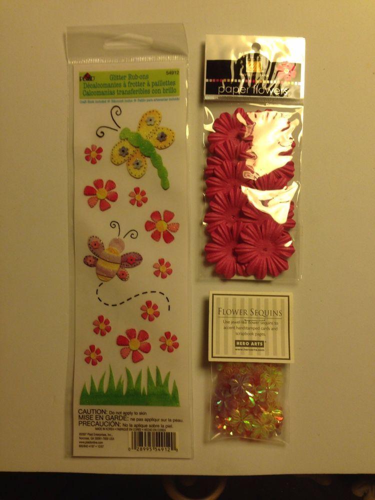 #ScrapbookEmbellishments #WholesaleLot Assorted Paper Craft And Scrapbook Embellishments Wholesale Lot New Unused P-3 #Assorted