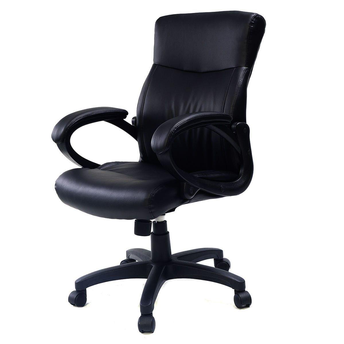 Costway 2016 style pu leather ergonomic computer desk task