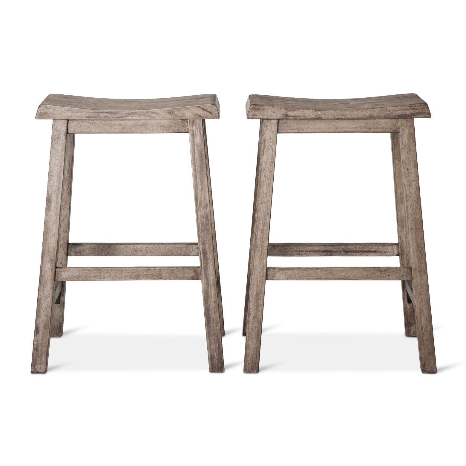 2pk 24 Trenton Counter Stool Dark Gray Wash Threshold Bar Stools Counter Stools Shabby Chic Table And Chairs
