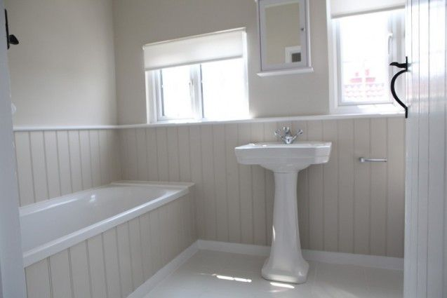 The lookout house thorpeness bathroom ideas pinterest for Wood panelled bathroom ideas