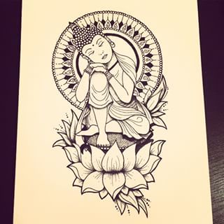 Lotus Flower Buddhism Drawing Pesquisa Google More Tattoos