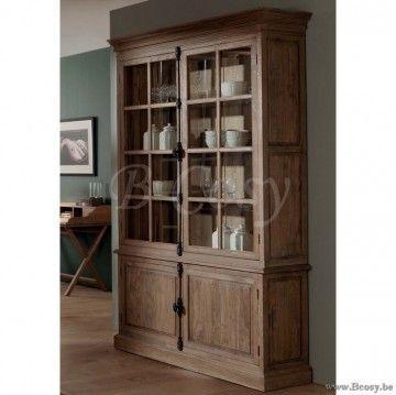 Vaisselier Interiors pr interiors villars vitrinekast in weathered oak-eik 145<span style