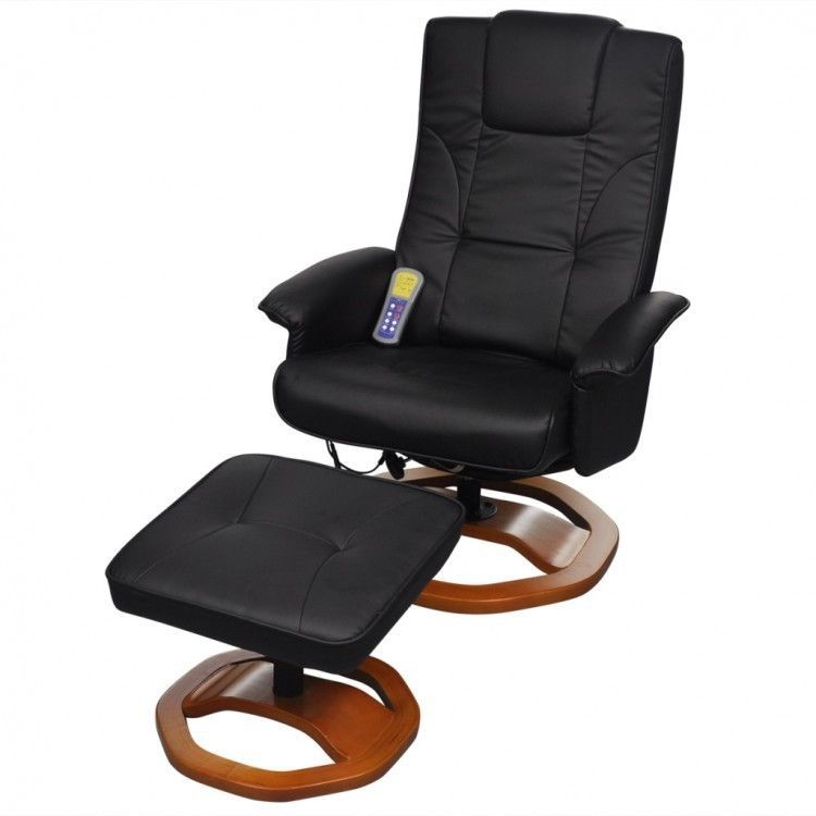 Cool Leather Massage Chair Black Adjustable Electric Backrest Ibusinesslaw Wood Chair Design Ideas Ibusinesslaworg
