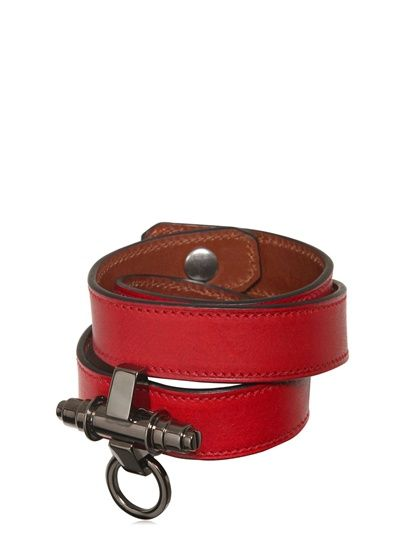 GIVENCHY - 3 ROWS OBSEDIA LEATHER BRACELET - LUISAVIAROMA - FLORENCE