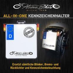 Photo of HeinzBikes All-in-One-Kennzeichenhalter mit 3-in-1-Blinker + Kennzeichenleuchte