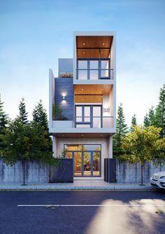 Casa ni o casa 3 pisos peque a pinterest fachadas for Departamentos minimalistas fachadas