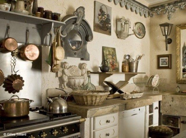 Jolie Idee Deco Cuisine Campagne Cuisine Campagne Campagne Et - Meuble cuisine bois et zinc pour idees de deco de cuisine