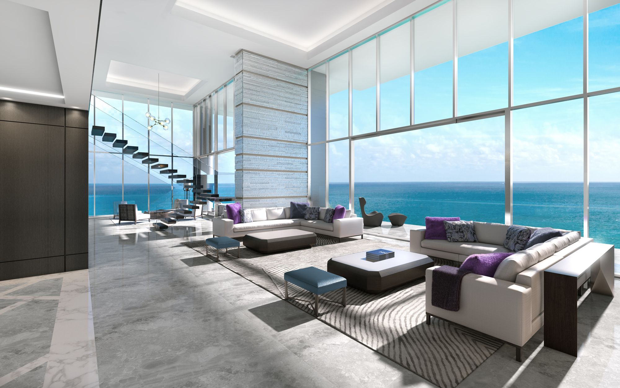 Stupendous Miami Beachs Designer Curated Latelier Penthouse Download Free Architecture Designs Sospemadebymaigaardcom