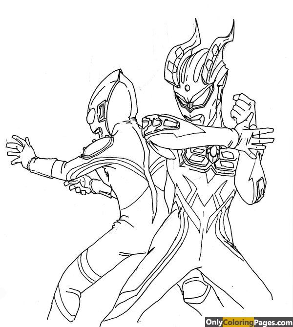 ultraman zero coloring pages | Only Coloring Pages | Pinterest