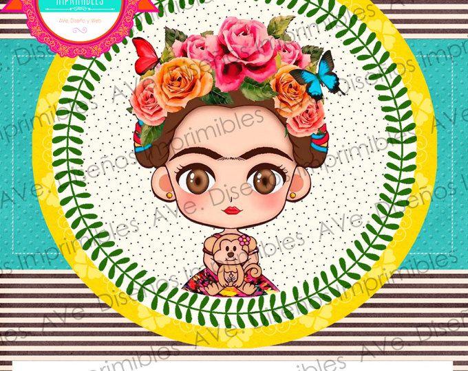 Imagenes De Frida Kahlo Para Imprimir: Frida Kahlo Invitaciones Fondo Lineas, Invitaciones Frida