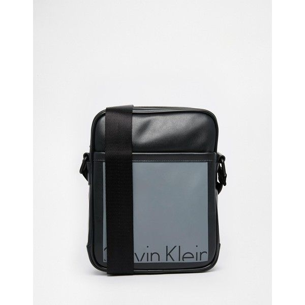 0d53ee557c Calvin Klein Cruise Reporter (4605 RSD) ❤ liked on Polyvore featuring men's  fashion, men's bags, men's messenger bags and black