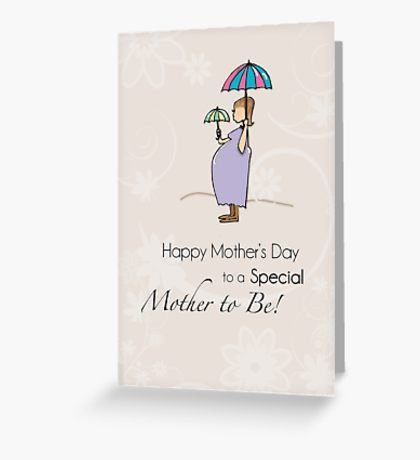 Mother's Day Pregnant Mom Greeting Card