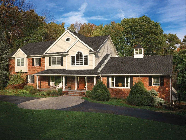 Best Gaf Timberline American Harvest Appalachian Sky Facade House 640 x 480