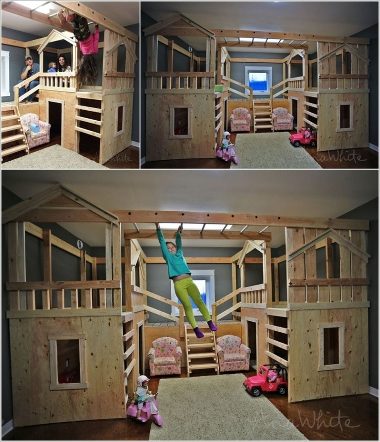 surprising Cool Ideas For Kid Bedrooms Part - 9: 10 Cool DIY Bunk Bed Ideas for Kids: how to be the coolest parent ever,  though odds are slim that I would build this.