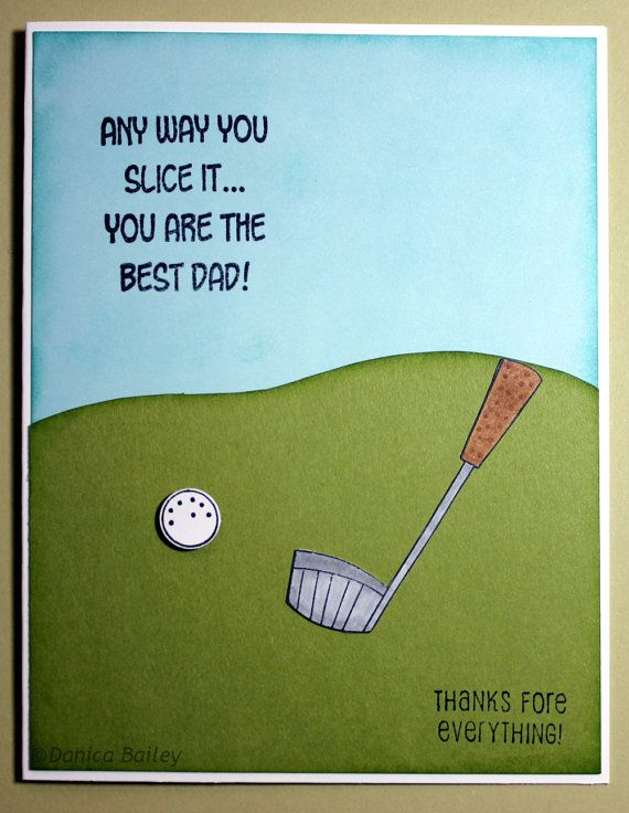 Golf Themed Fathers Day Card By VeganStamper On Etsy 550