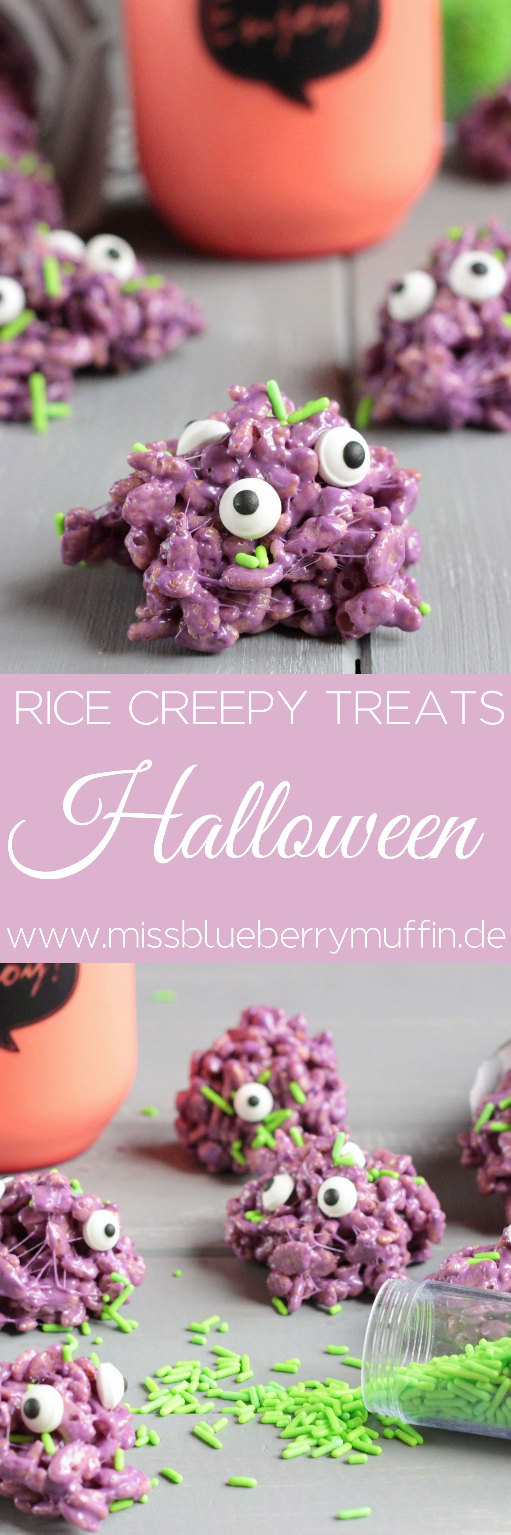 Halloween Süßigkeiten mit Kindern machen // Monster Rice Krispy ...