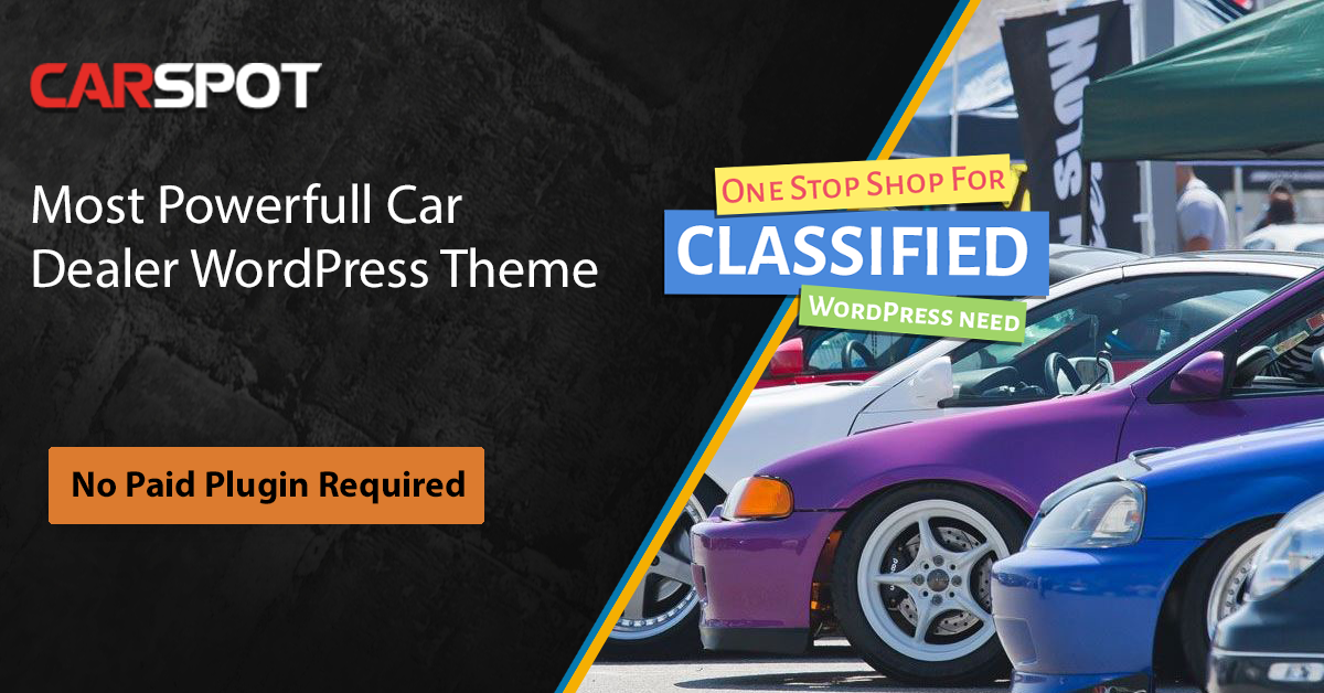 Carspot Is Creative Multi Purpose And Most Powerfull Car Dealer Wordpress Theme That Helps You Create A Featured Packed Web Car Dealer Wordpress Theme