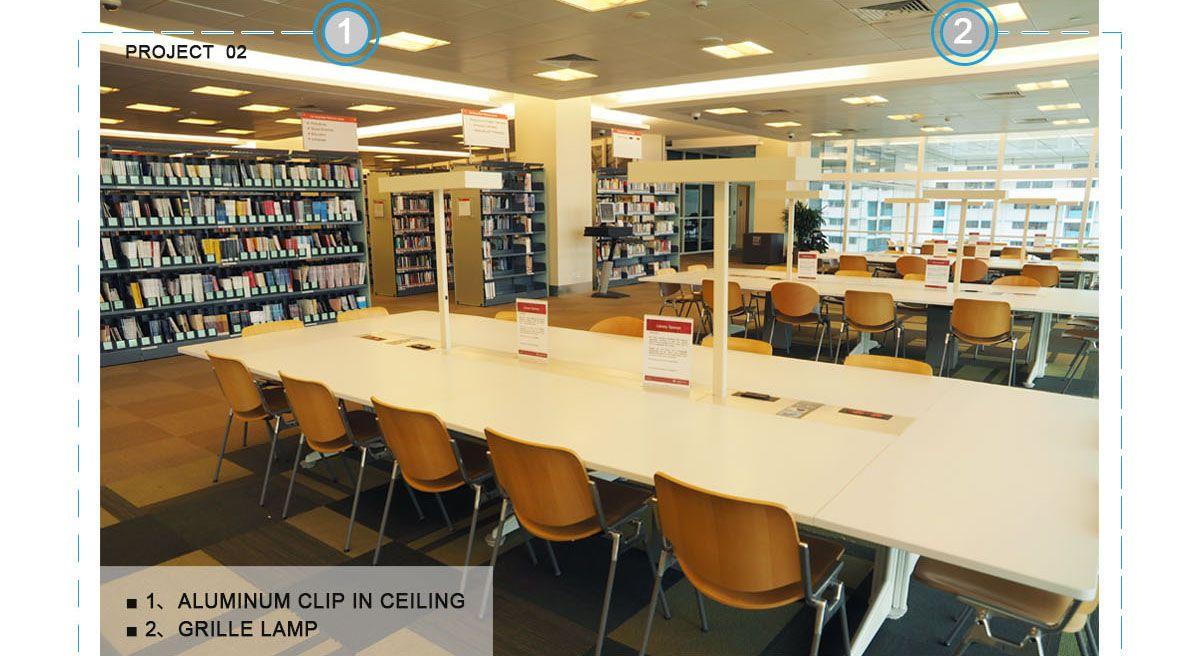 clip in ceiling,aluminum clip in ceiling,Library aluminum