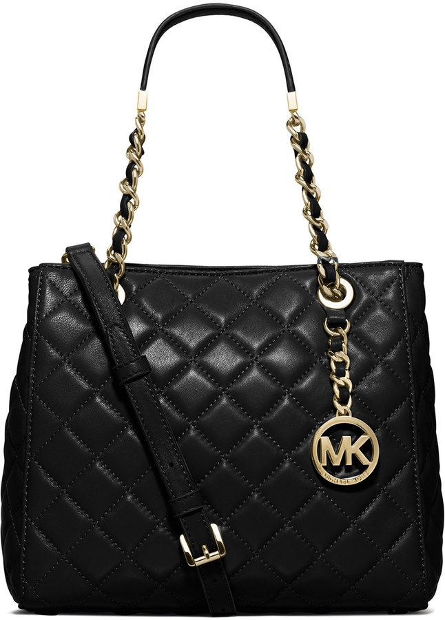 MICHAEL Michael Kors Susannah Small Quilted Tote Bag, Black   Purses ... b78c16ea4c