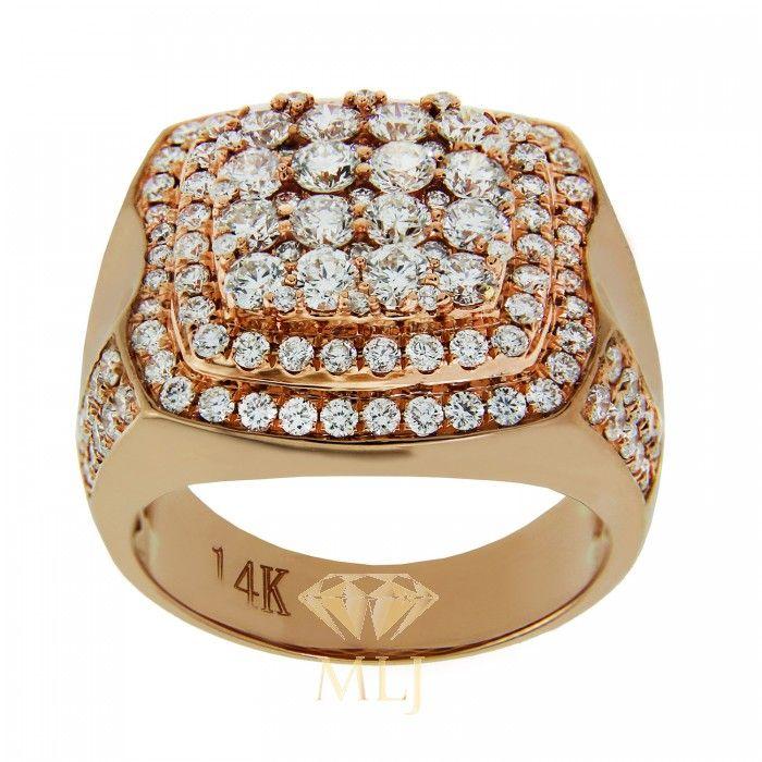 Diamond Ring For Men In Rose Gold | MLJ Rings | Pinterest | Rose ...