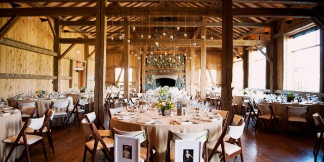 Rustic indoor wedding reception love the picture of bride and groom rustic indoor wedding reception love the picture of bride and groom hanging on chair junglespirit Image collections