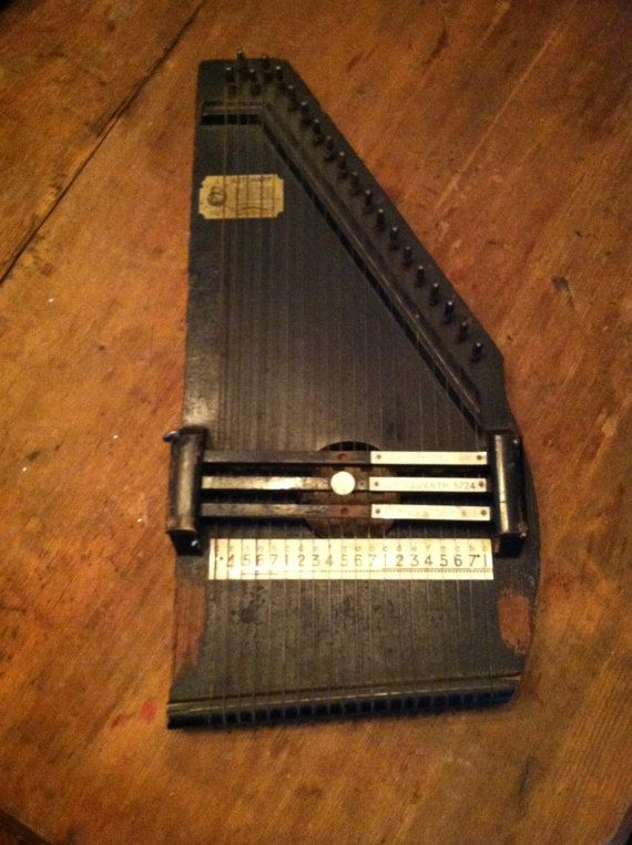 Cf Zimmerman Co Antique Wooden Auto Harp By Theantiqueaddicts