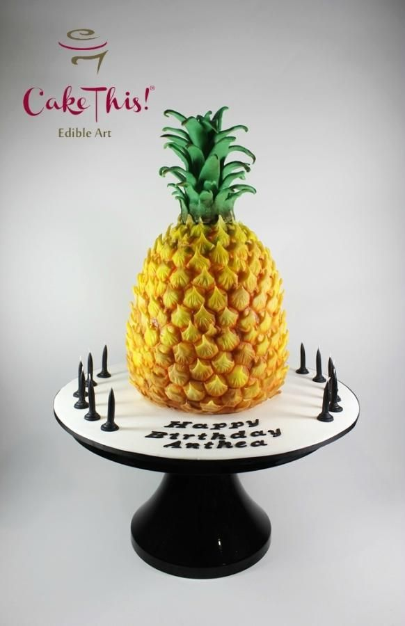 Pineapple Birthday Cake Pineapple Cake Pineapple Birthday Savoury Cake