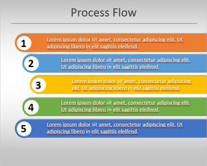 simple process flow template for powerpoint is an original process