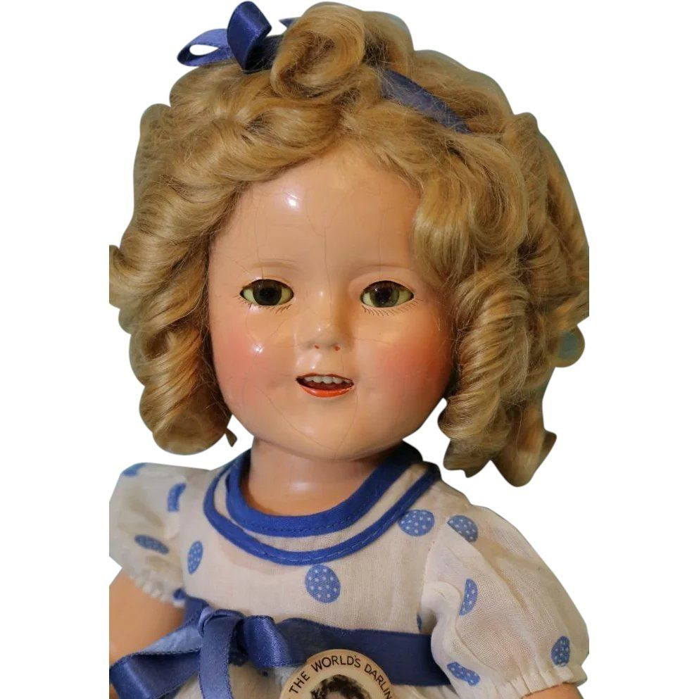 15 Inch Ideal Shirley Temple Doll Box Composition Stand Up And Cheer W Pin 1935 Shirley Temple Shirley Dolls