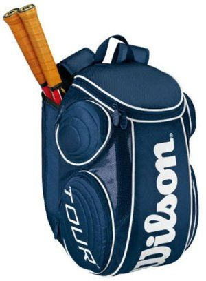 Wilson 12 Tour Large Tennis Backpack Blue White By Wilson 49 95 Compartments 1 Main Compartment 1 Racquet C Tennis Backpack Wilson Tennis Bags Tennis Bags