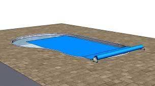 The Auto Pool Reel Is Designed To Cover And Uncover Pools Automatically For Freeform Pools Simply By Pos Automatic Pool Cover Retractable Pool Cover Pool Cover