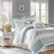 Home Essence Stella 9-Piece Bedding Comforter Set, Blue Image 1 of 6