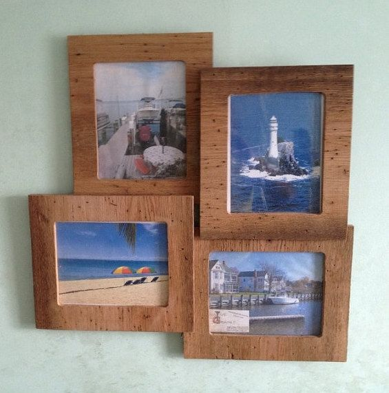 Rustic Oak Multi Level Picture Frame On Etsy 7000 Beachcottage